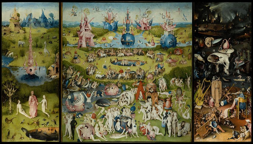 Renaissance painting of the garden of earthly delights