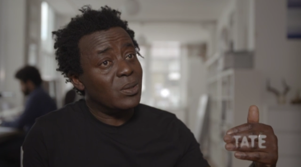 Screenshot of artist John Akomfrah
