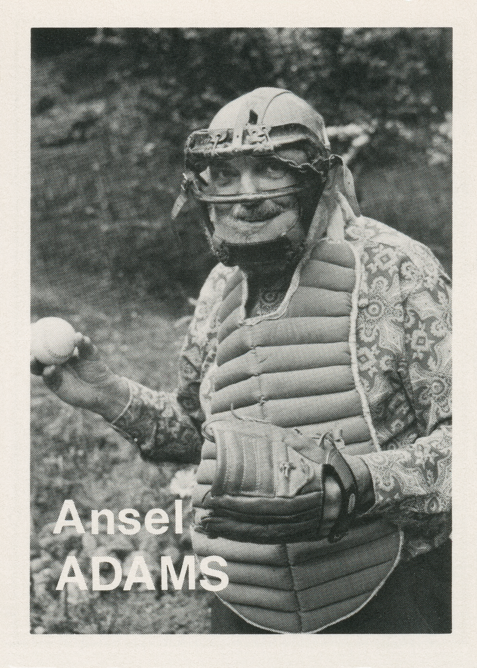 Artwork image, Mike Mandel, Baseball photographer trading card Ansel Adams