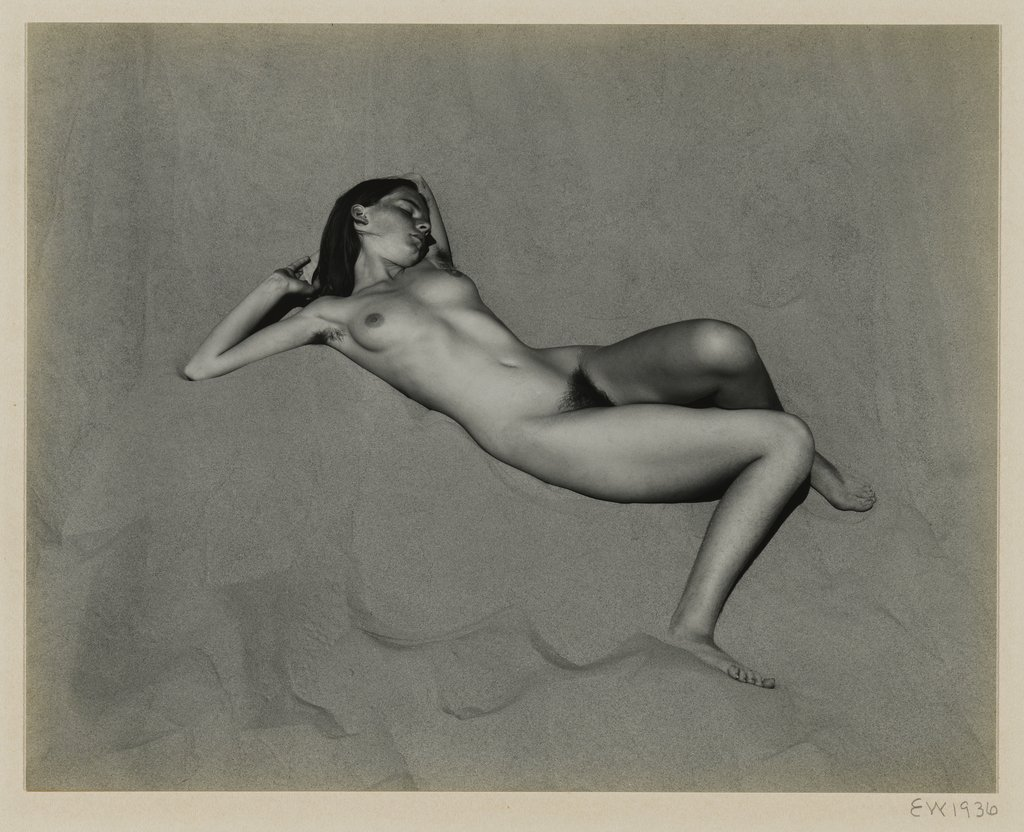 Artwork image, Edward Weston, Nude on Dune