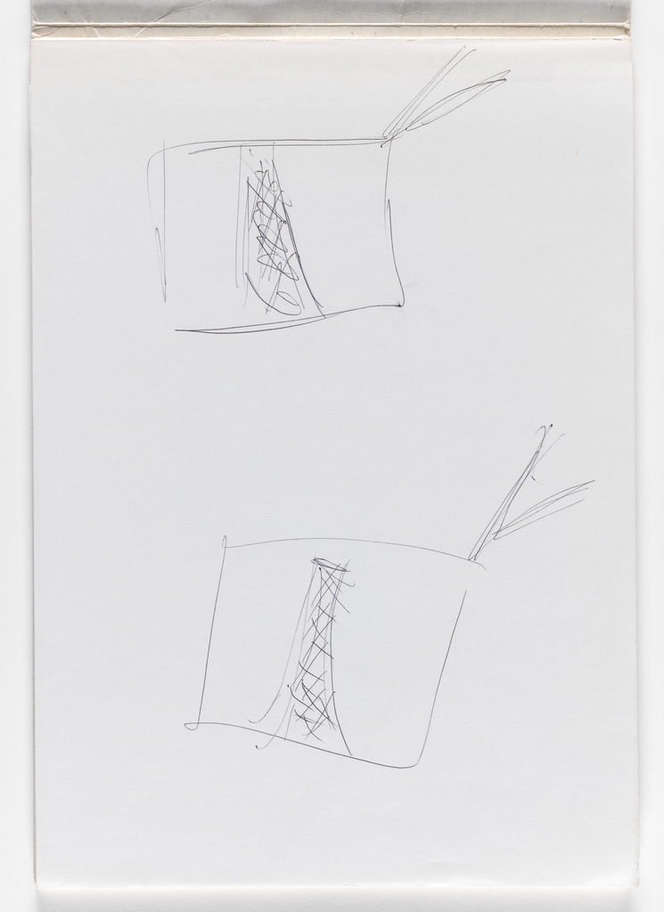 Nam June Paik, Untitled, from Untitled Notebook, 1980 page 1