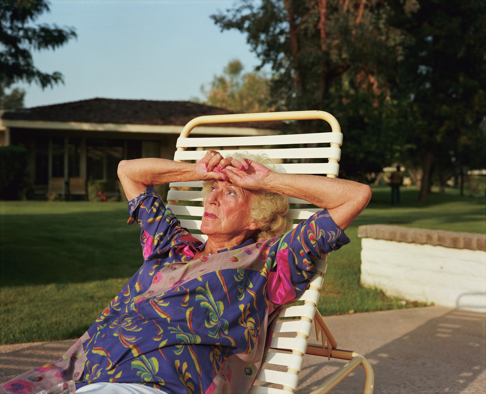 Artwork image, Larry Sultan, Mom on Chaise Lounge