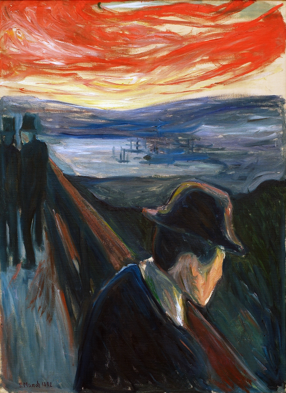 Artwork image, Munch, Sick Mood at Sunset: Despair