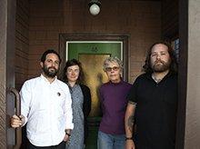 Jordan Stein, Lindsey White, archivist and collaborator P.F. McMoon, and David Kasprzak.
