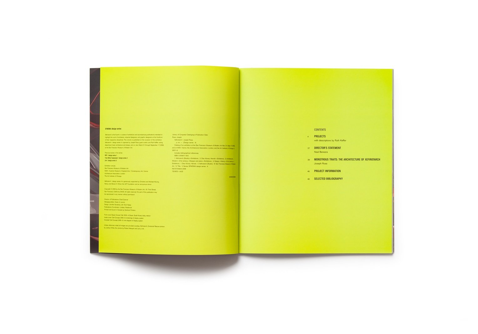 Xefirotarch: design series 4 publication table of contents