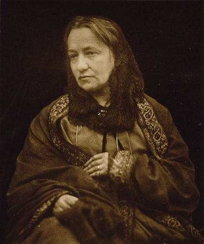 Portrait of photographer Julia Margaret Cameron