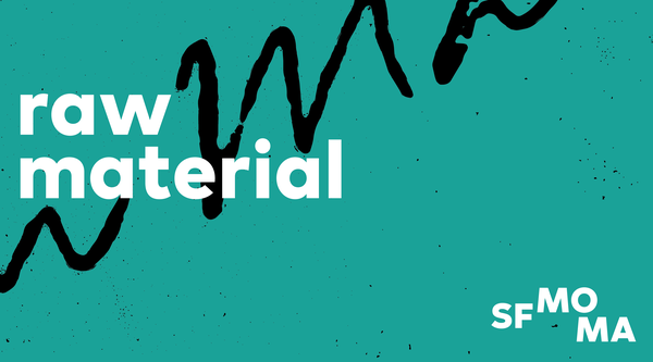 Raw material podcast logo with text