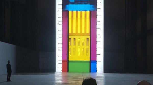Multi-colored neon light artwork