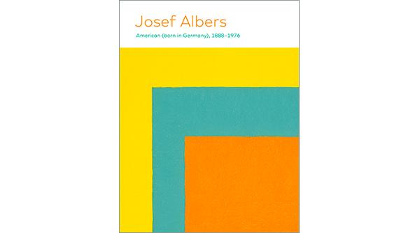 Josef Albers; Yellow, blue, and orange striped square