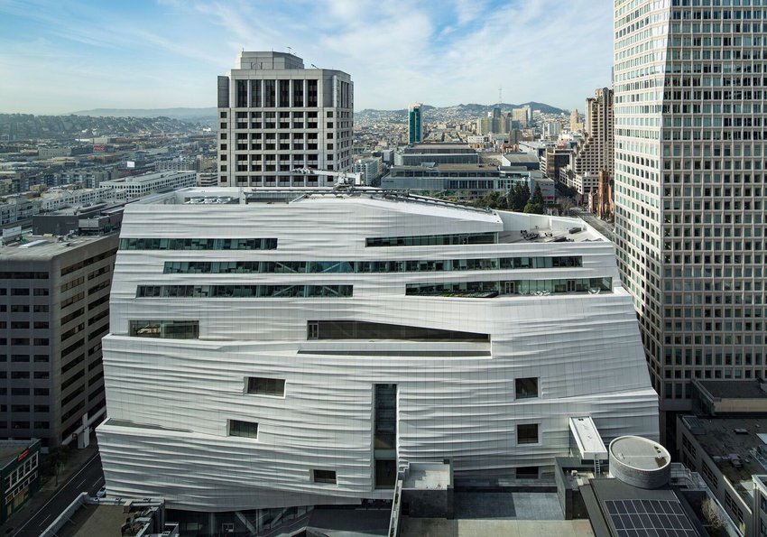 Exterior view of SFMOMA