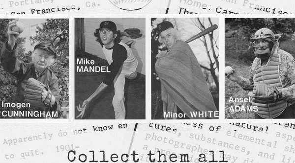 Black and white baseball cards, Mandel