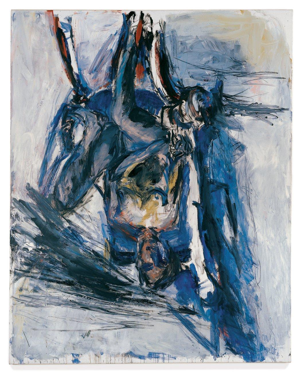 Artwork image, Georg Baselitz Elke im Lehnstuhl (Elke in Armchair)