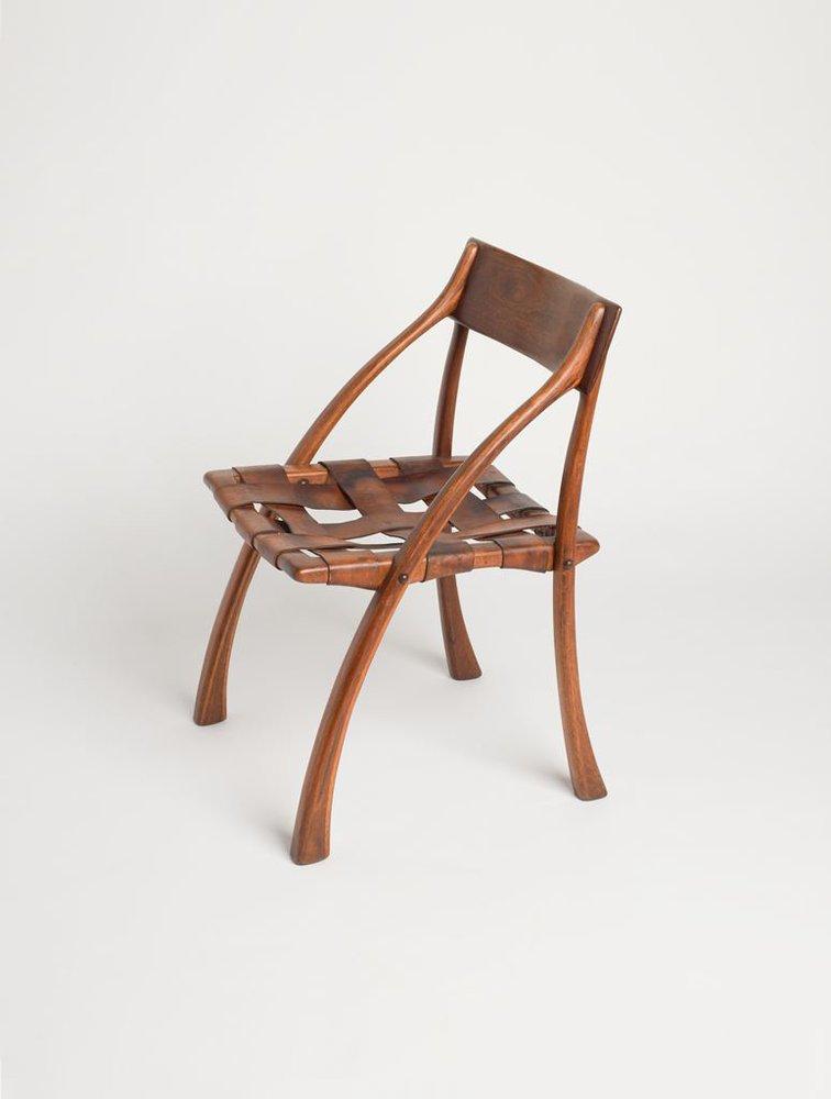 A color photograph of a wooden chair, Espenet Carpenter