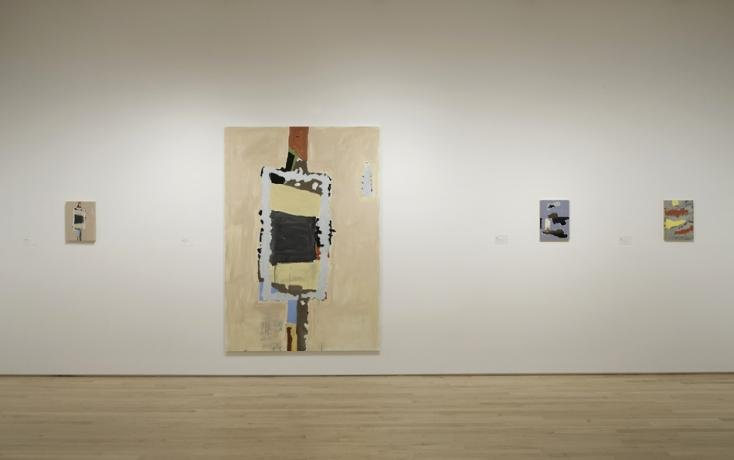 Installation view of New Work: Richard Aldrich