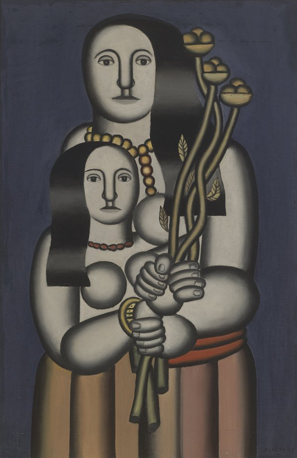 Leger, Two Women on a Blue Background
