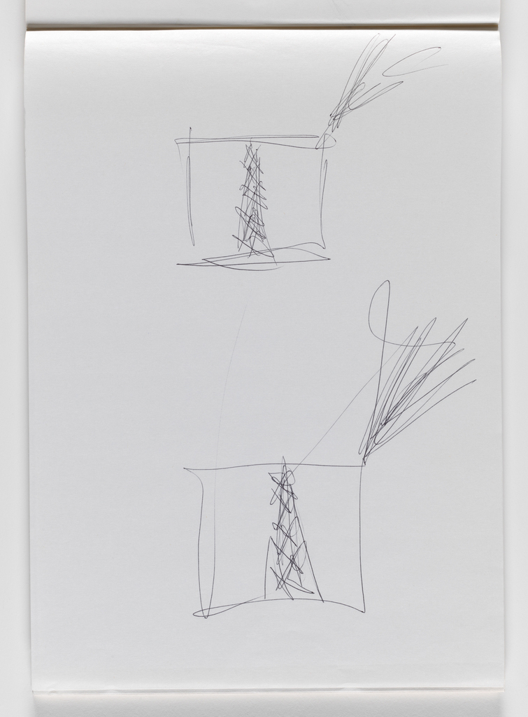 Nam June Paik, Untitled, from Untitled Notebook, 1980 page 4