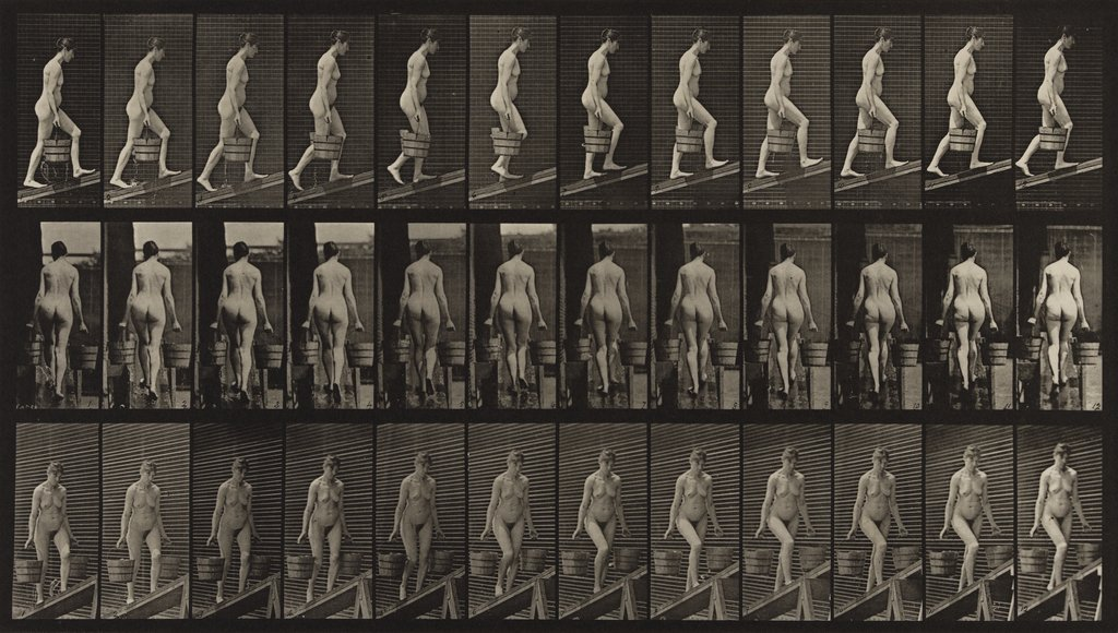 Artwork image, Eadweard Muybridge, Ascending an Incline