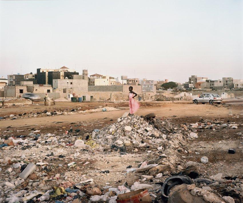 Artwork image, Jim Goldberg Girl in Pink Dress, Senegal