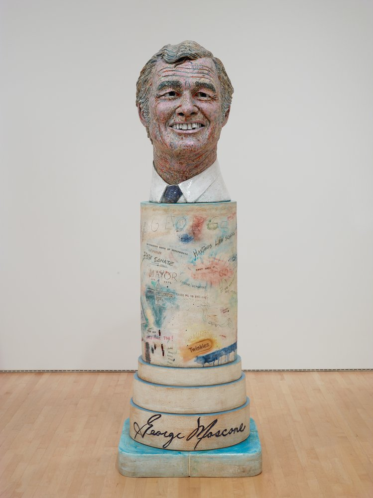 Artwork image, Robert Arneson, Portrait of George (Moscone)