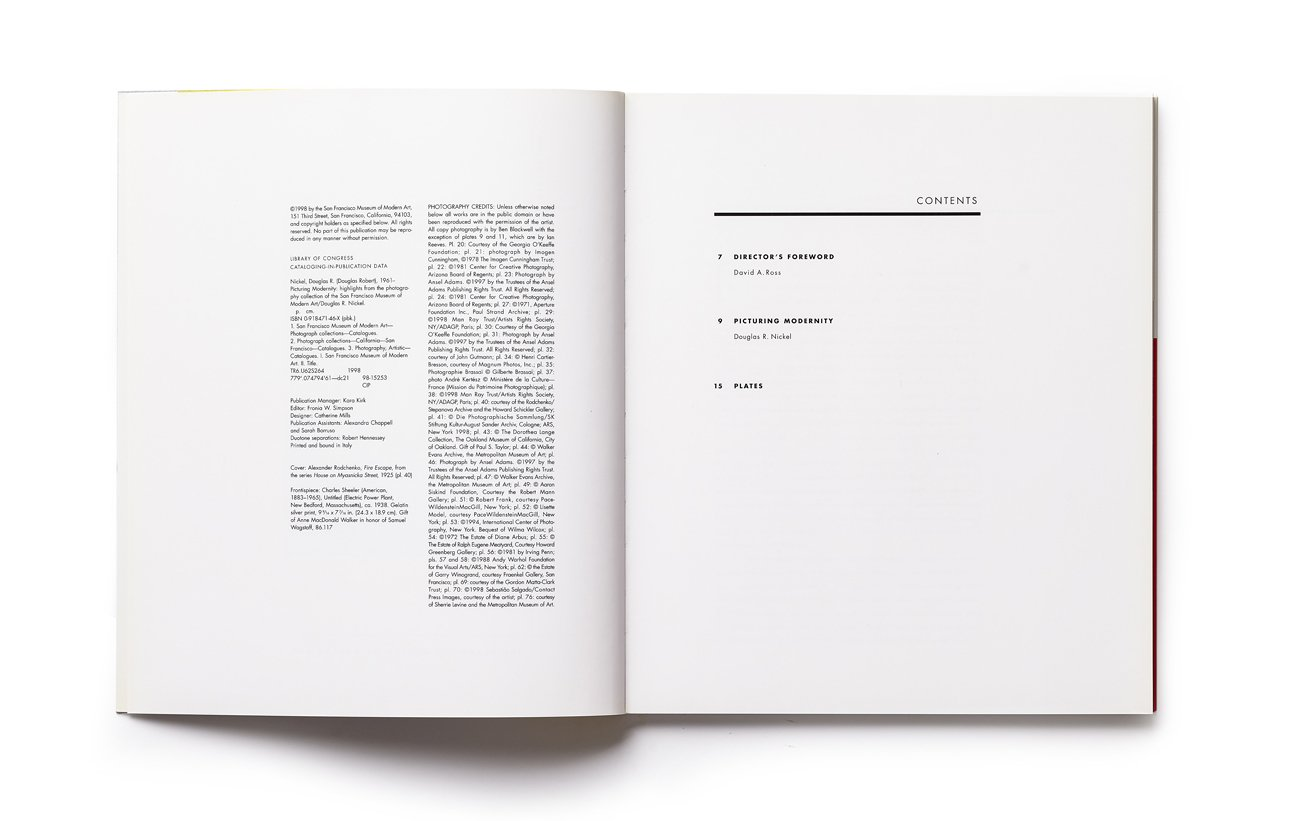 Picturing Modernity contents