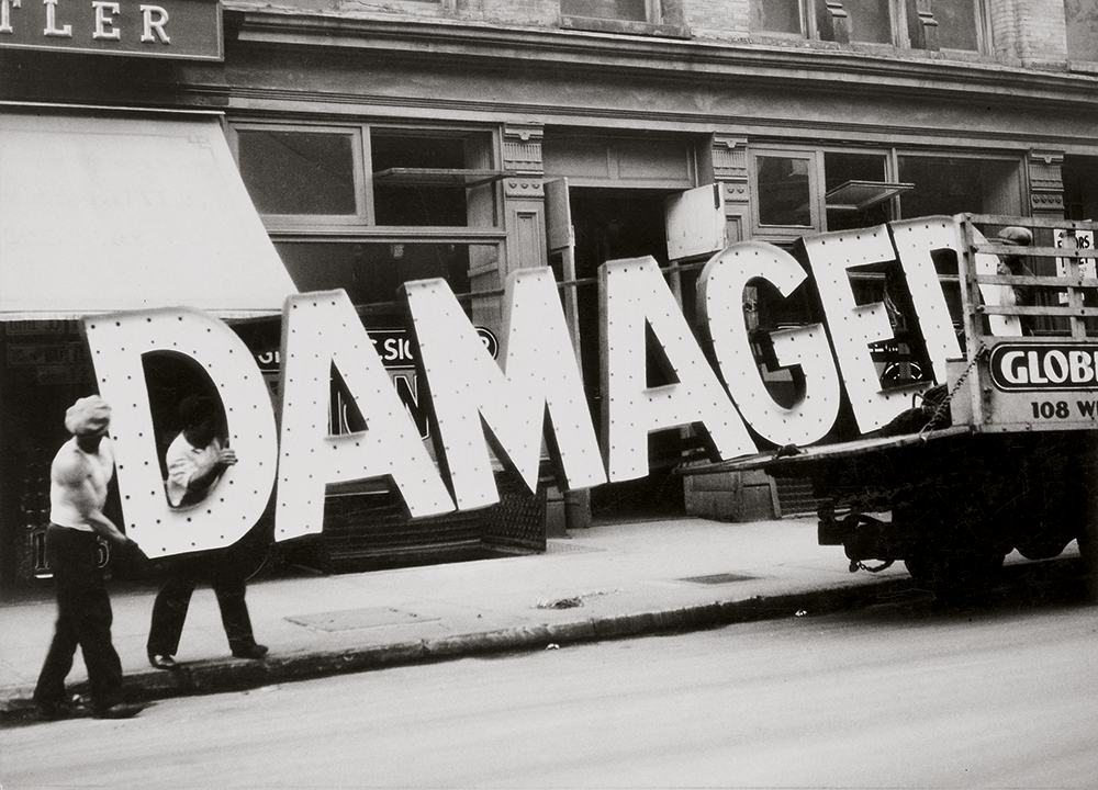 Artwork image, Walker Evans, Truck and Sign