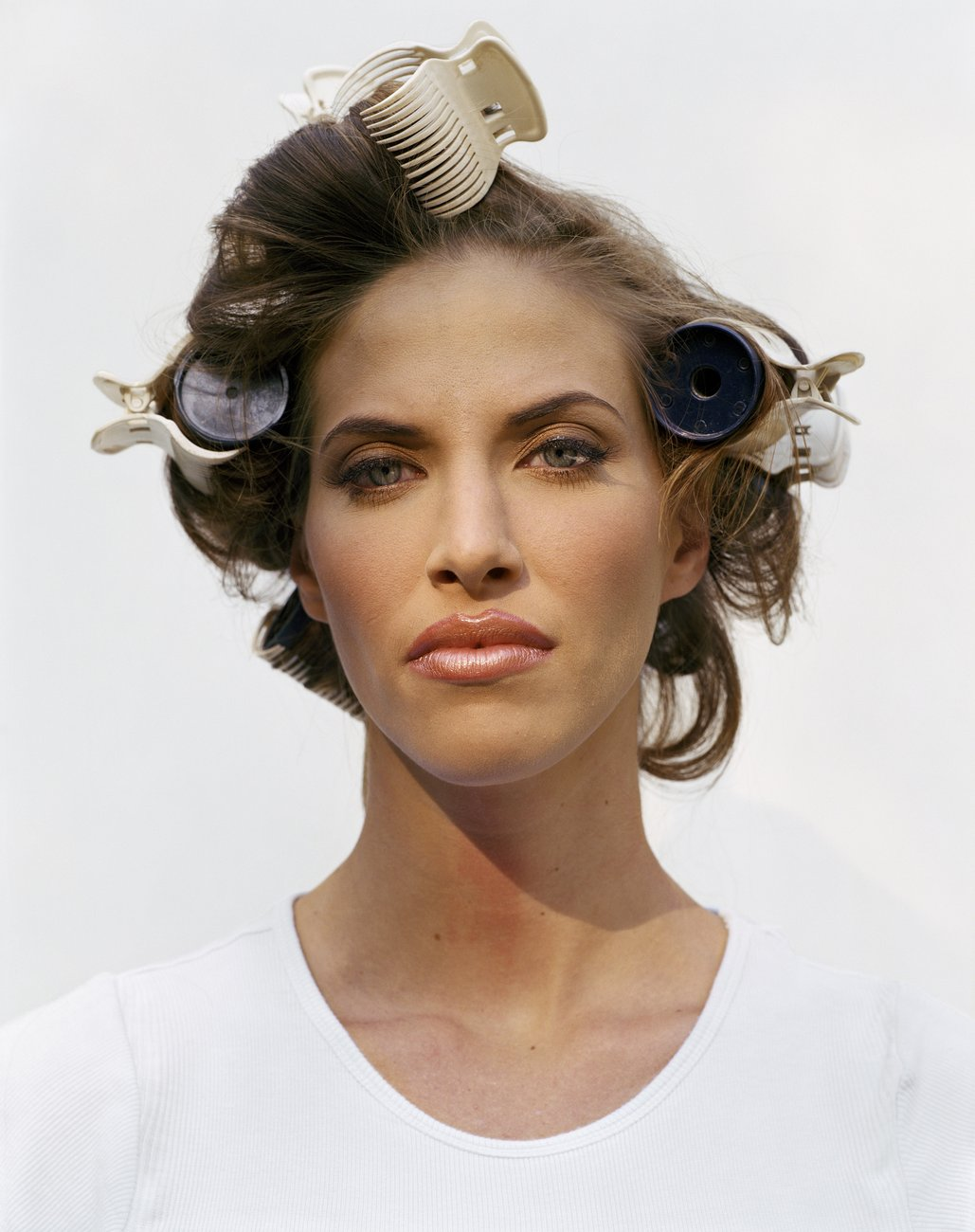 Artwork image, Larry Sultan, Woman in Curlers
