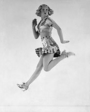 Munkacsi, image of person dancing and leaping in mid air