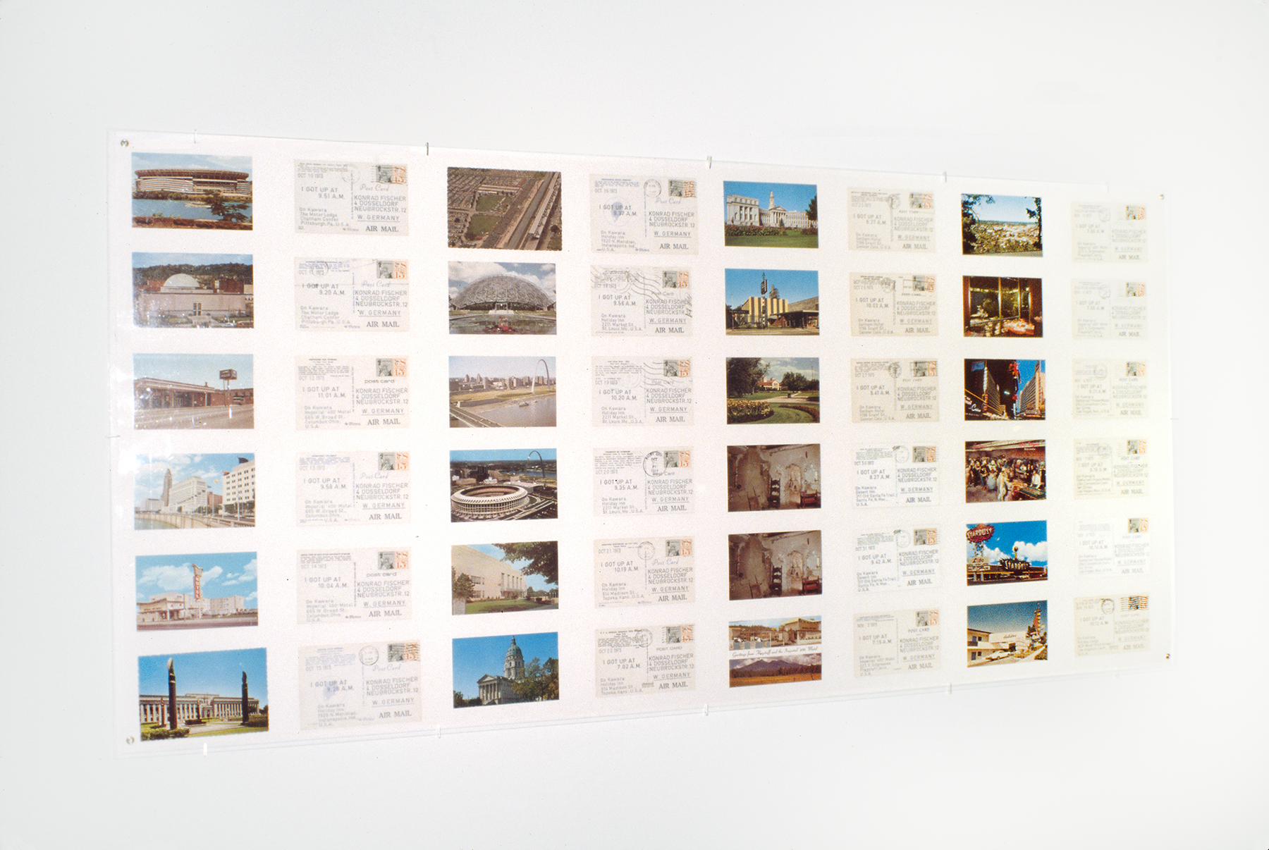 A grid of postcards featuring landmarks in Germany