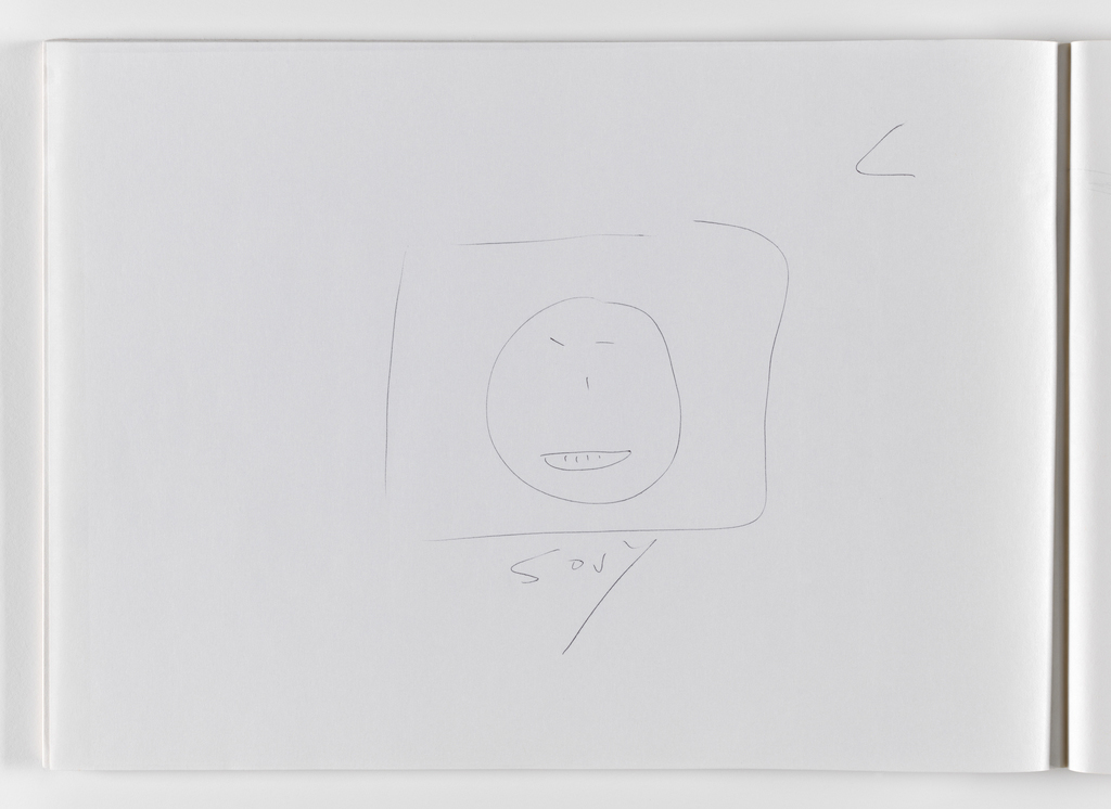 Nam June Paik, Untitled, from Untitled Notebook, 1980 page 12