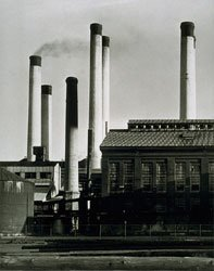 Charles Sheeler Electric Power Plant black and white print