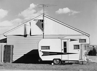 Robert Adams, photo of trailer in front of house