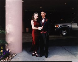 Sternfeld, young woman and man at prom