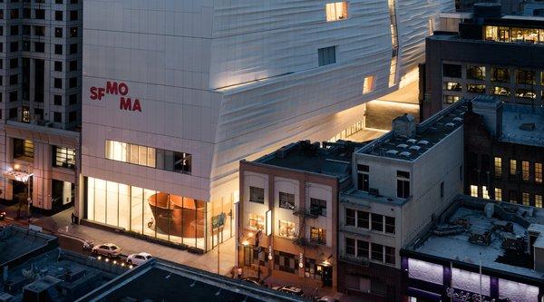 Howard street exterior of the new SFMOMA