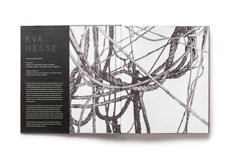 Eva Hesse publication front endsheet