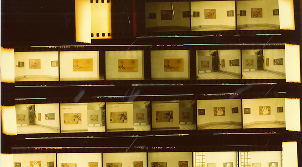 Thumbnail of negative strips showing gallery installation shots