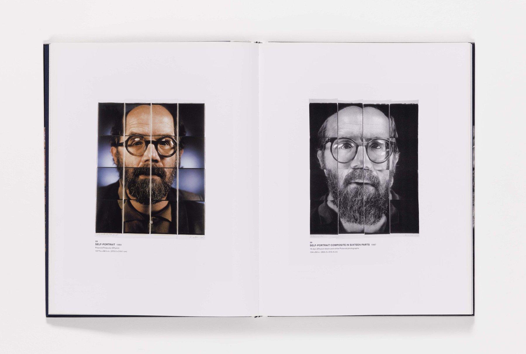 Chuck Close Self-Portraits publication pages 35_36