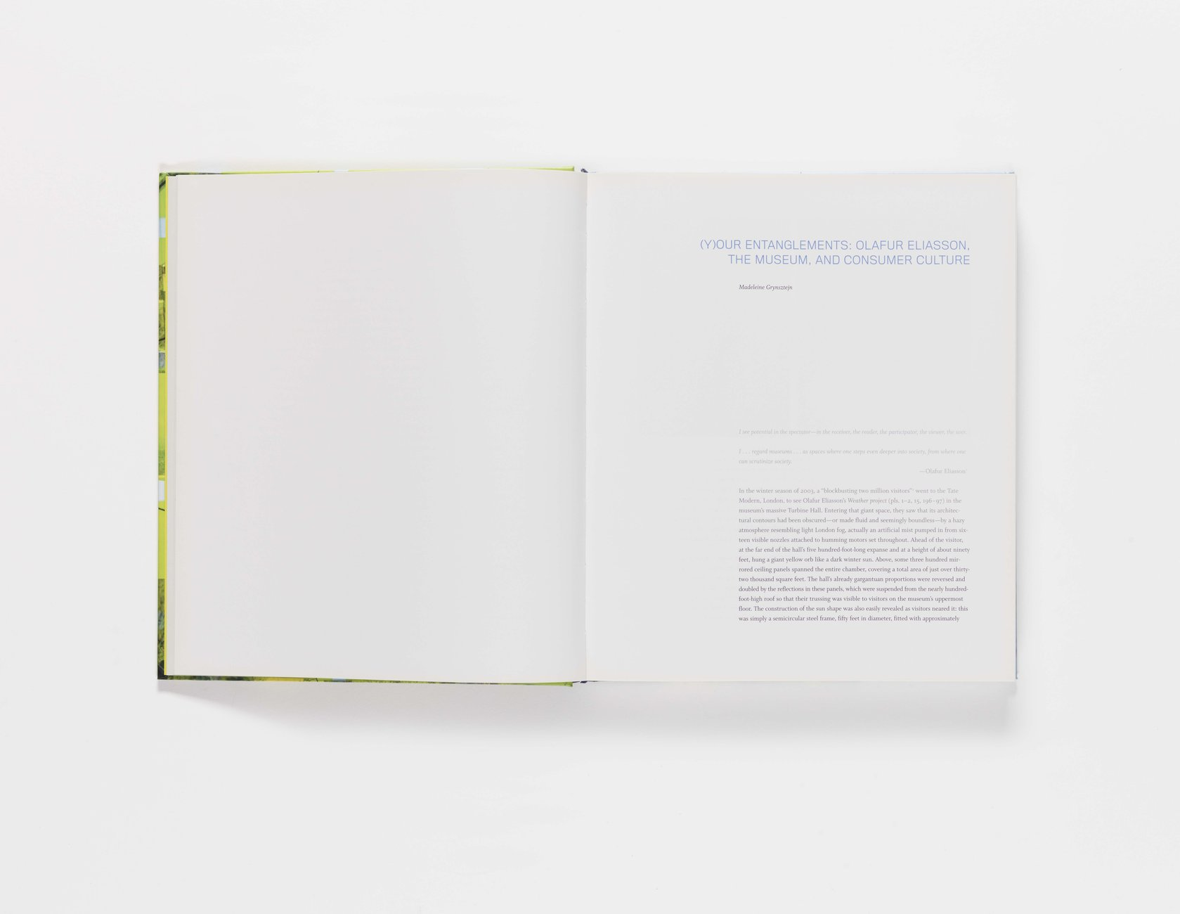 Take Your Time: Olafur Eliasson publication pages 10-11