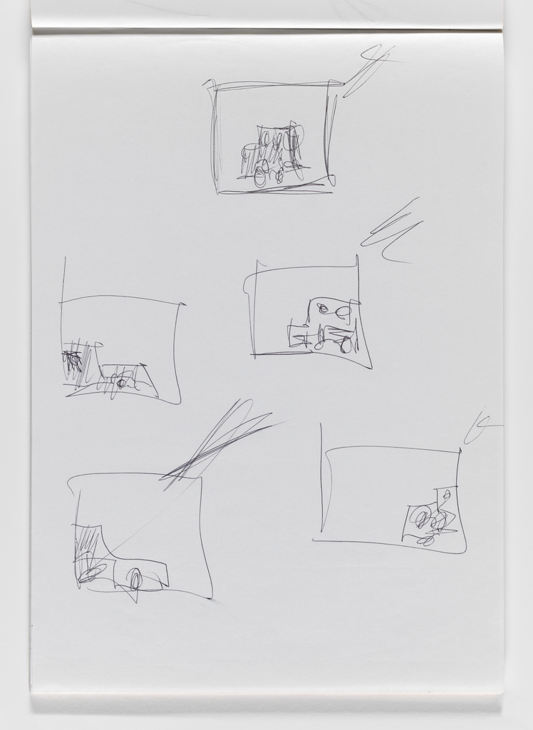 Nam June Paik, Untitled, from Untitled Notebook, 1980 page 25