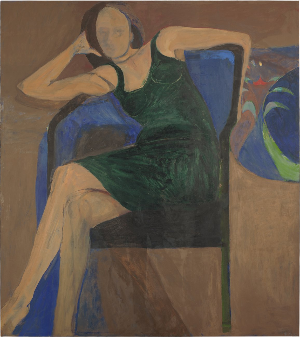 Artwork image, Richard Diebenkorn's Seated Woman
