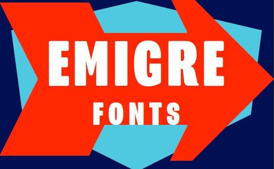 Emigre font logo