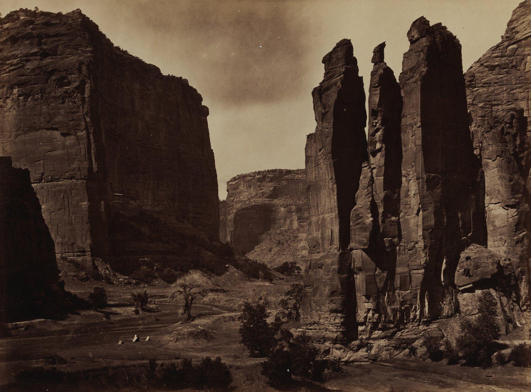 Artwork image, Timothy H. O'Sullivan's Cañon de Chelle