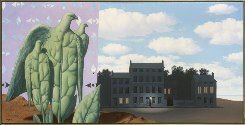 Painting by Magritte