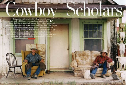 two cowboys sitting on porch