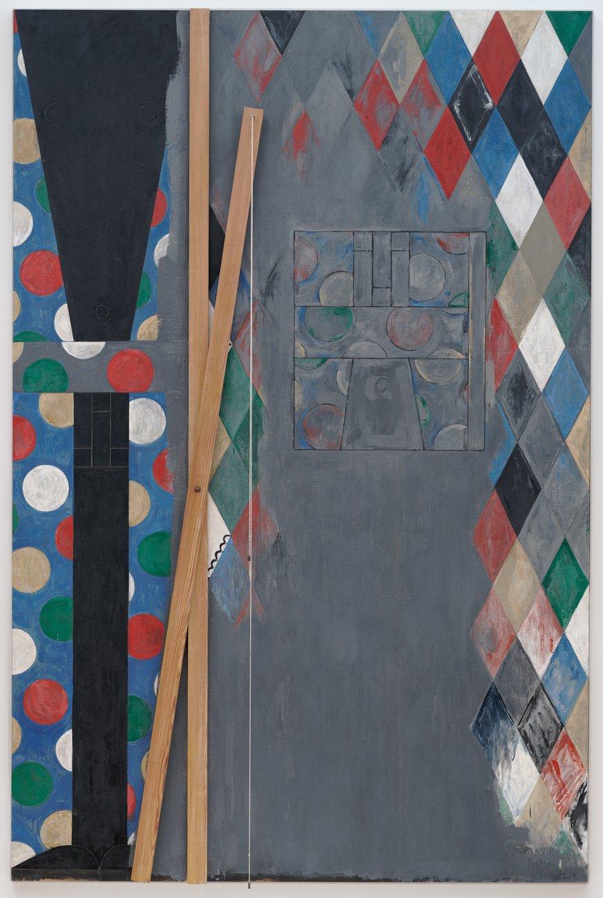Artwork image, Jasper John's painting Bushbaby