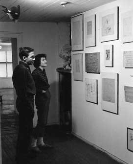 Robert Rauschenberg with Gloria McDarrah at his Front Street studio