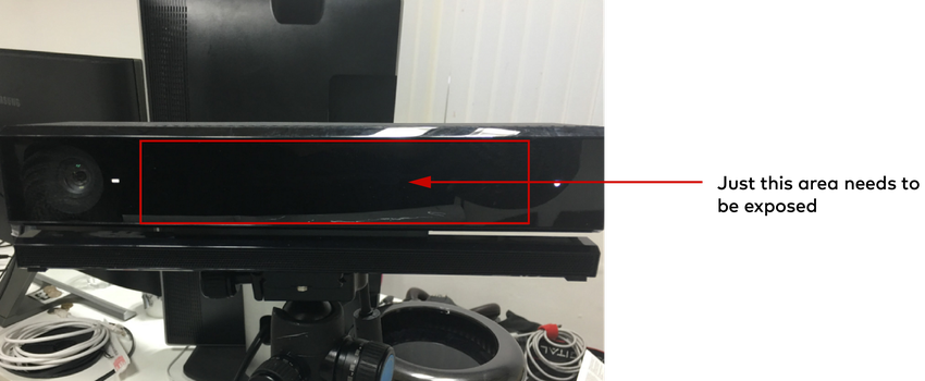 Kinect camera face with arrow