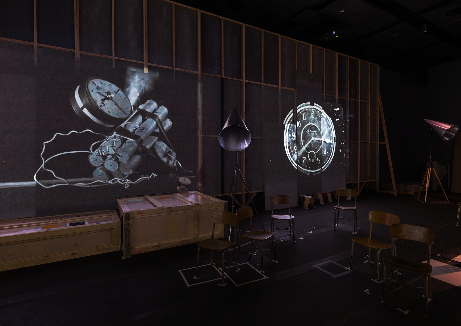 Installation view of William Kentridge, The Refusal of Time
