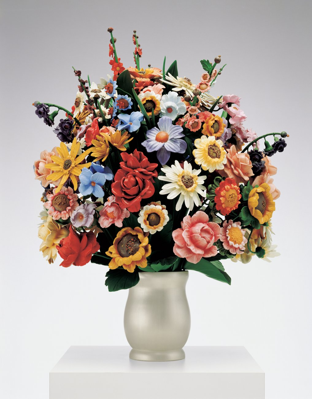 Artwork image, Jeff Koons, Large Vase of Flowers