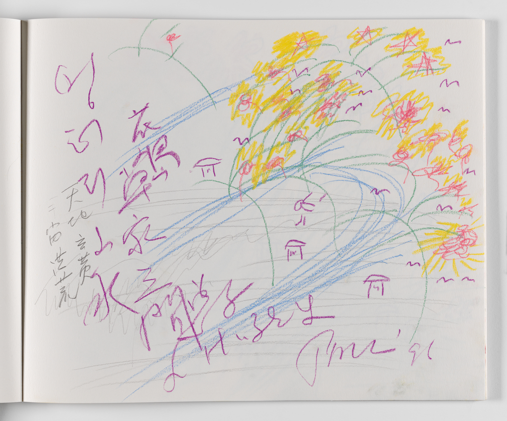 Nam June Paik, A Drawing Notebook, 1996 page 27