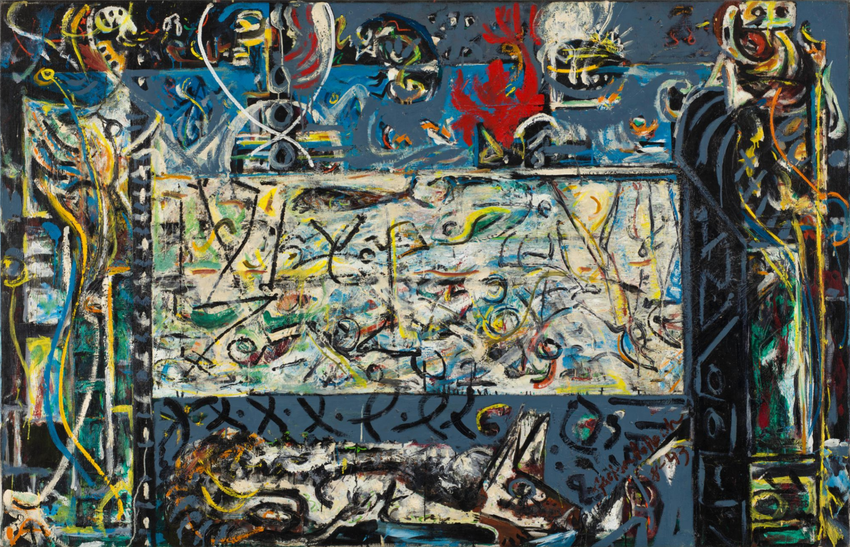 Artwork image, Jackson Pollock, Guardians of the Secret